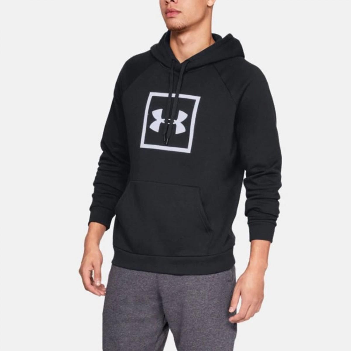 UA Rival Fleece Logo Hoodie 'Black'