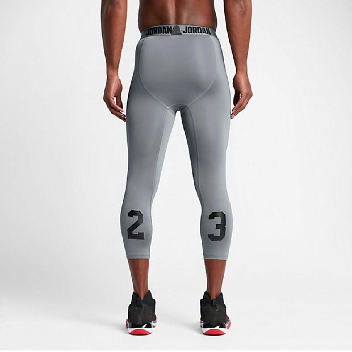 Jordan Three Quarter Tight 'Grey'