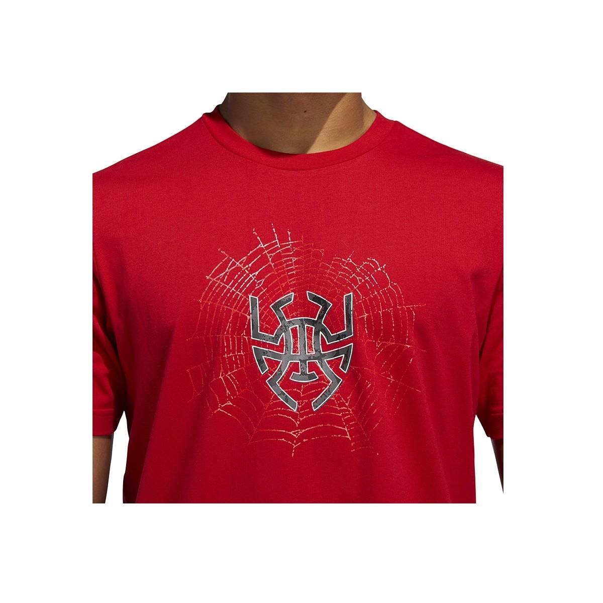 ADIDAS Donovan Mitchell Sense Logo 'Red'-GE4111