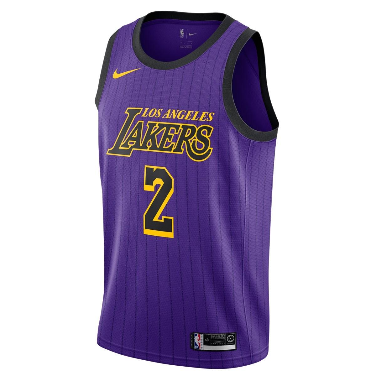 Nike NBA Lakers Swingman Jersey Lonzo Ball 'City Edition'