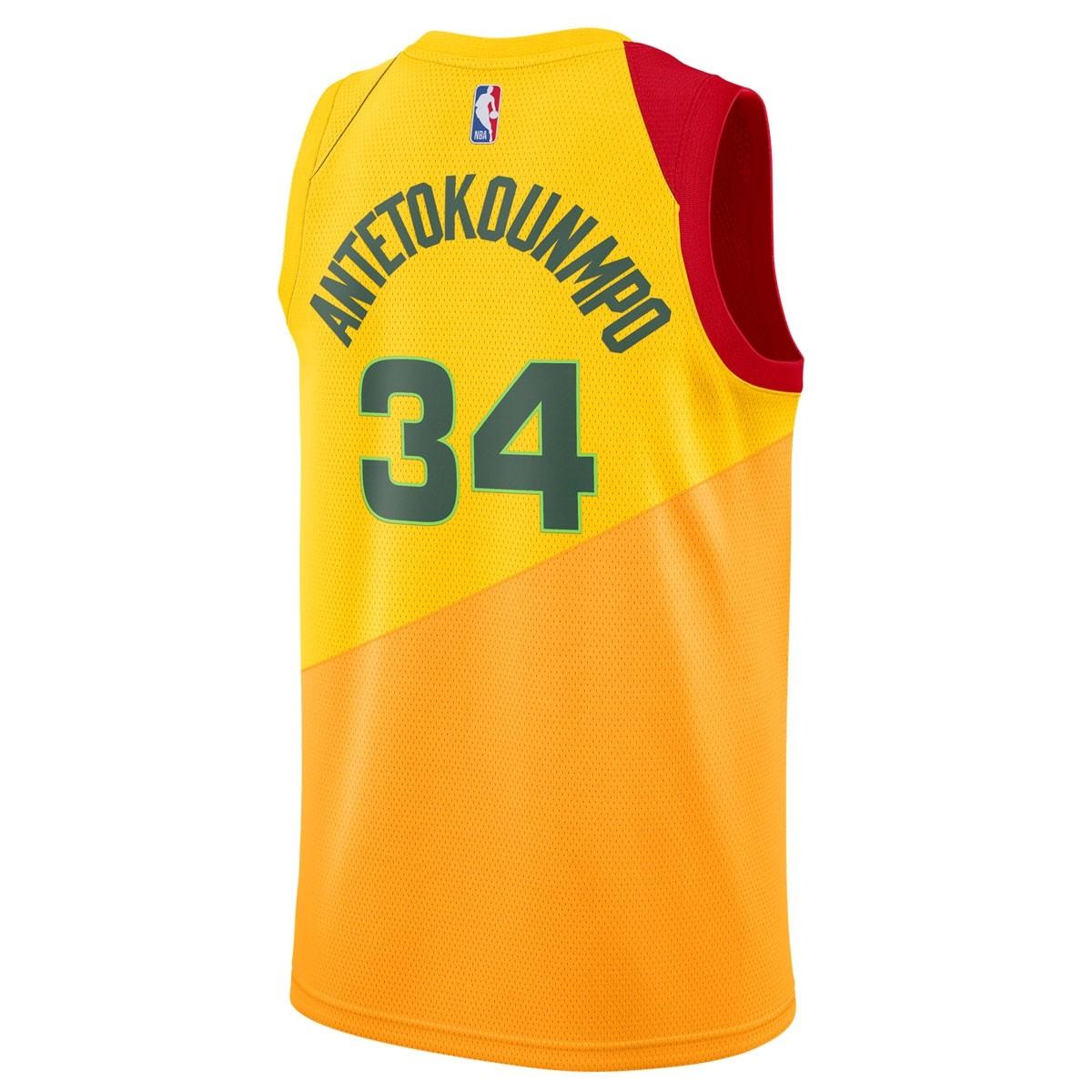 Nike NBA Bucks Swingman Jersey Antetokounmpo 'City Edition' AJ4624-717