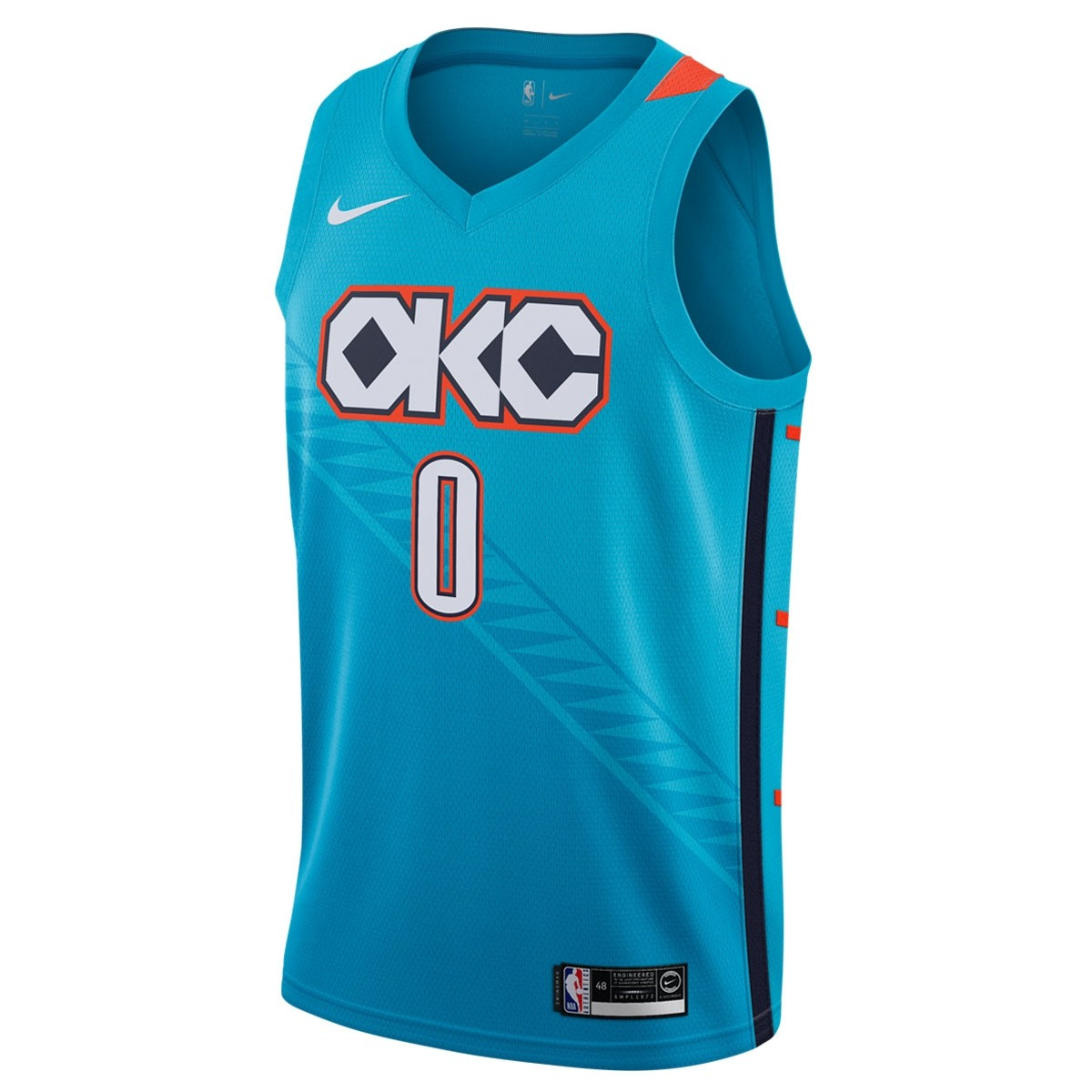 Nike NBA OKC Swingman Jersey Westbrook 'City Edition'
