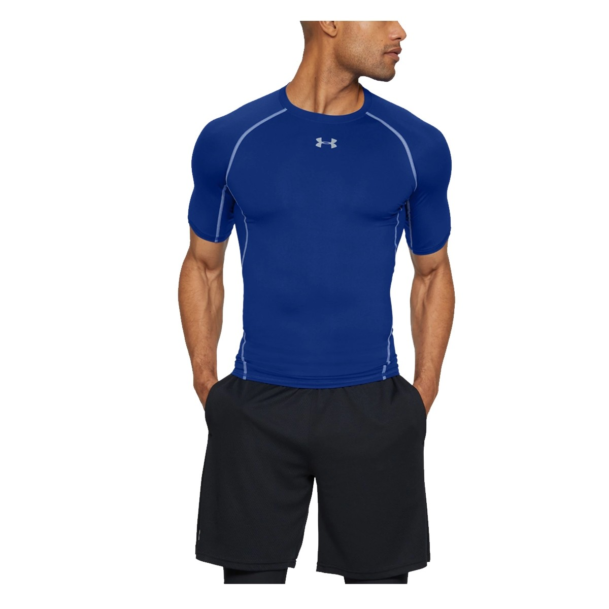Camiseta Compresión Training HeatGear 'Blue'