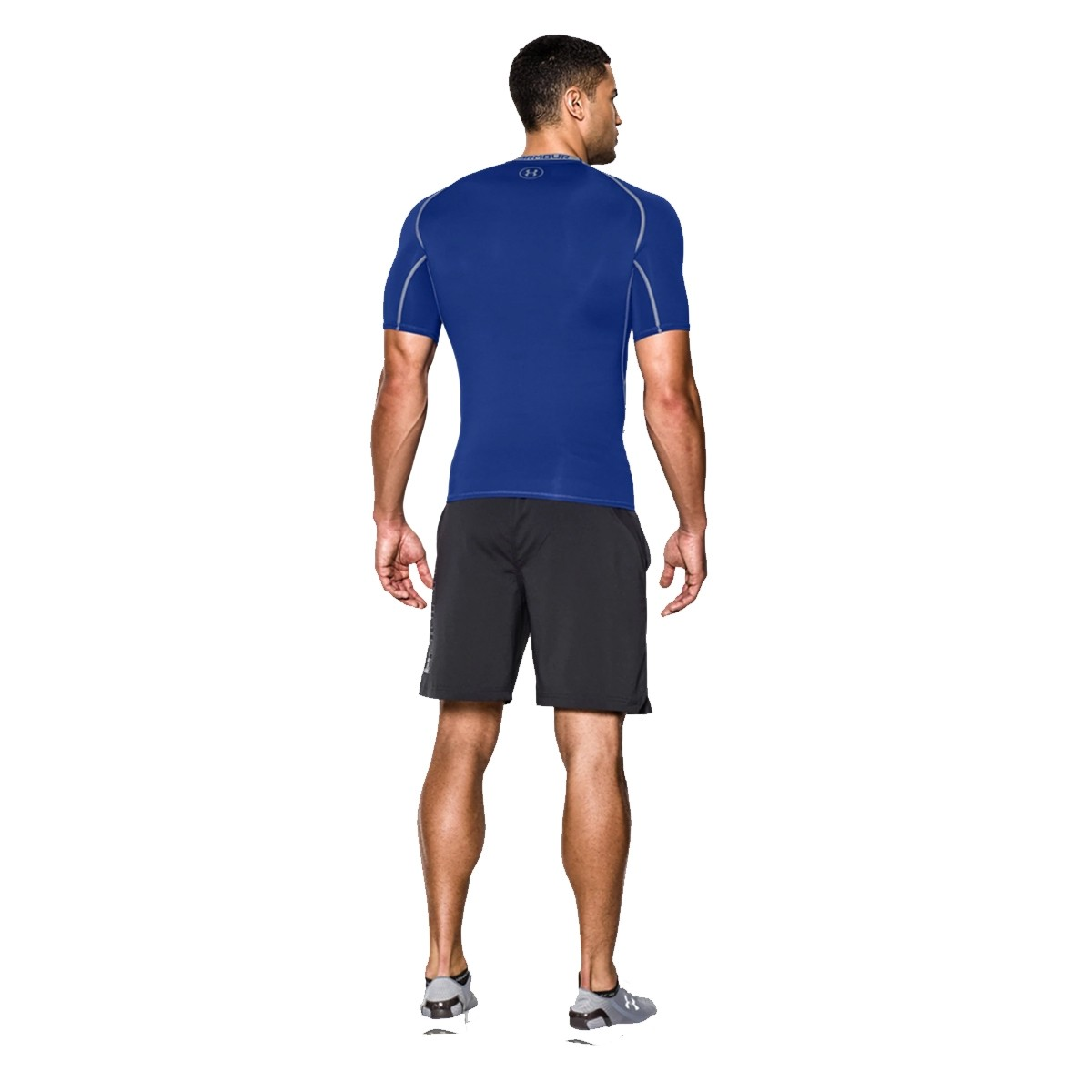 Camiseta Compresión Training HeatGear 'Blue'-1257468-400