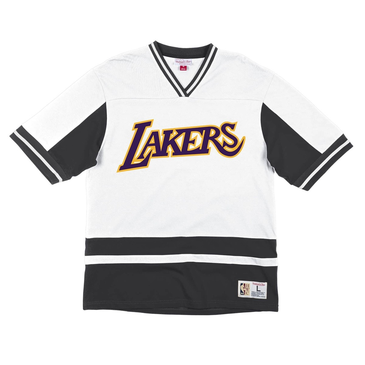 Camiseta Mitchell & Ness Final Seconds V-Neck 'Lakers'