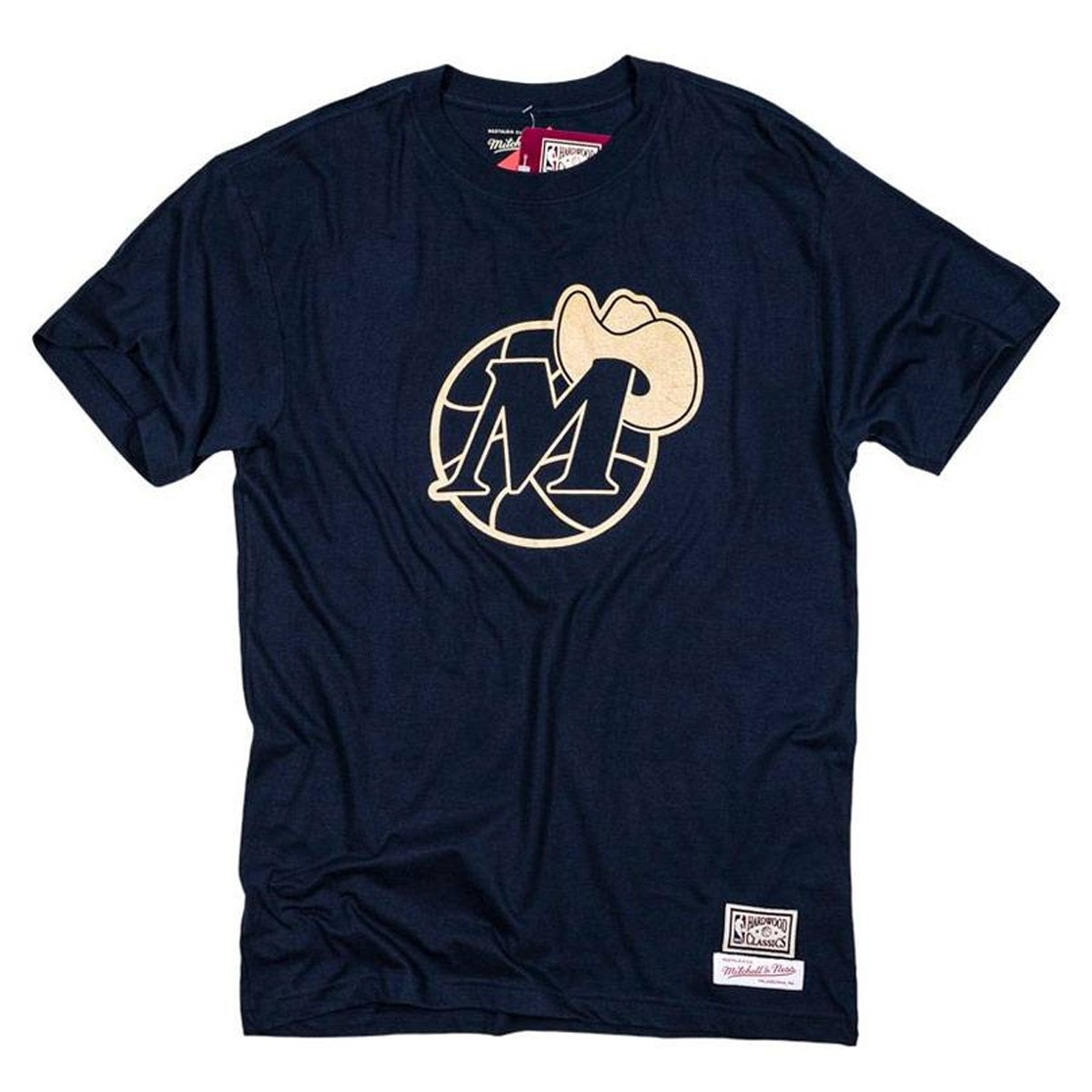 Camiseta Mitchell & Ness Gold Logo 'Dallas Mavericks'