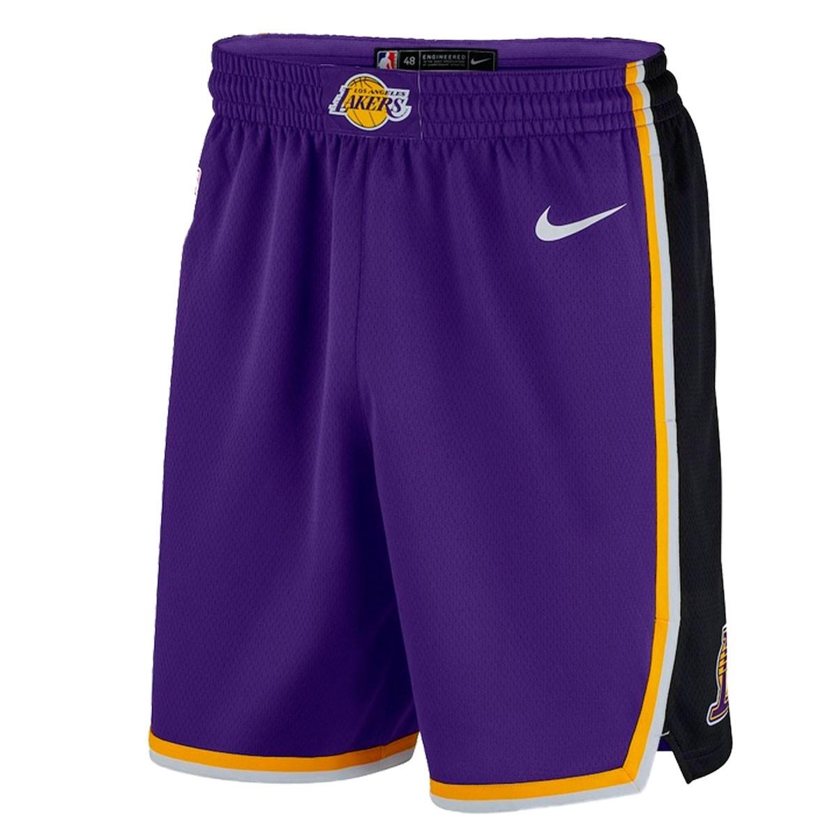 Nike Junior NBA Lakers Swingman Short 'Statement Edition'