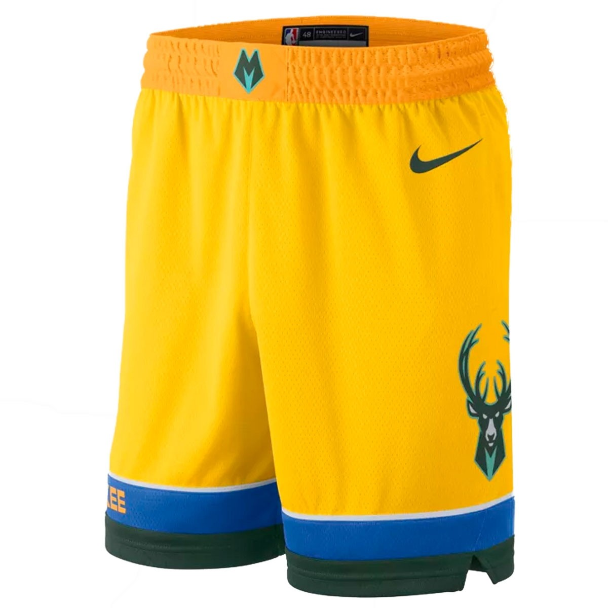 Nike Junior NBA Bucks Swingman Short 'City Edition'