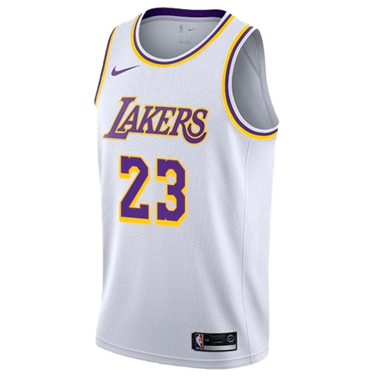 Nike Junior NBA LAL Swingman Jersey James 'Association Edition'