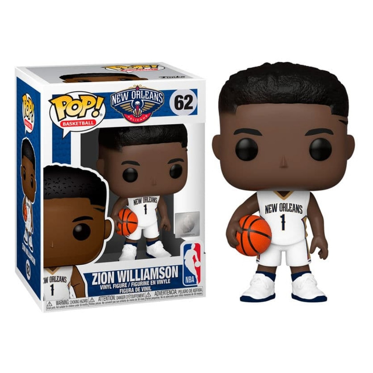 Funko POP NBA Zion Williamson 'Pelicans'-44279