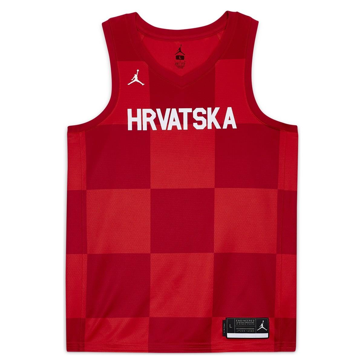 Jordan Croacia Olympics Jersey Tokyo 2020 'Red'
