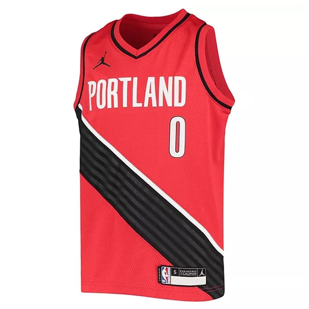 Jordan Jr NBA Blazers Swingman Jersey Damian Lillard 'Statement Edition'