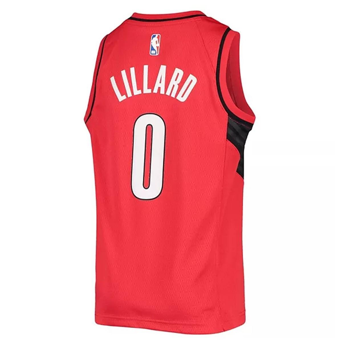 Jordan Jr NBA Blazers Swingman Jersey Damian Lillard 'Statement Edition'-EY2B7BXAP-PORDL