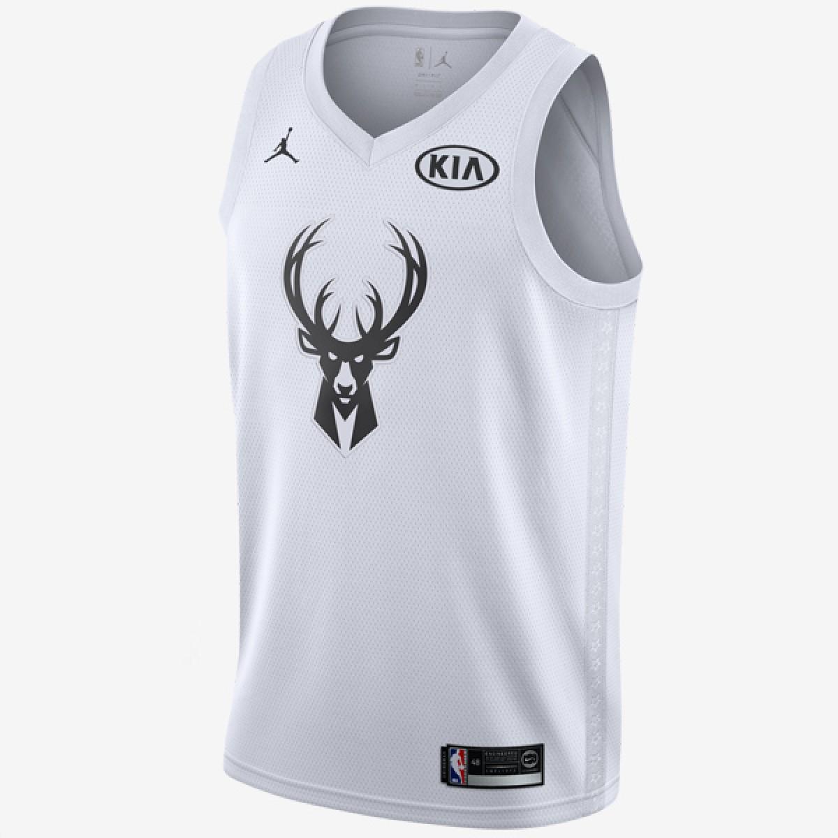 Jordan Swigman Jersey All-Star edition Antetokounmpo 'White'