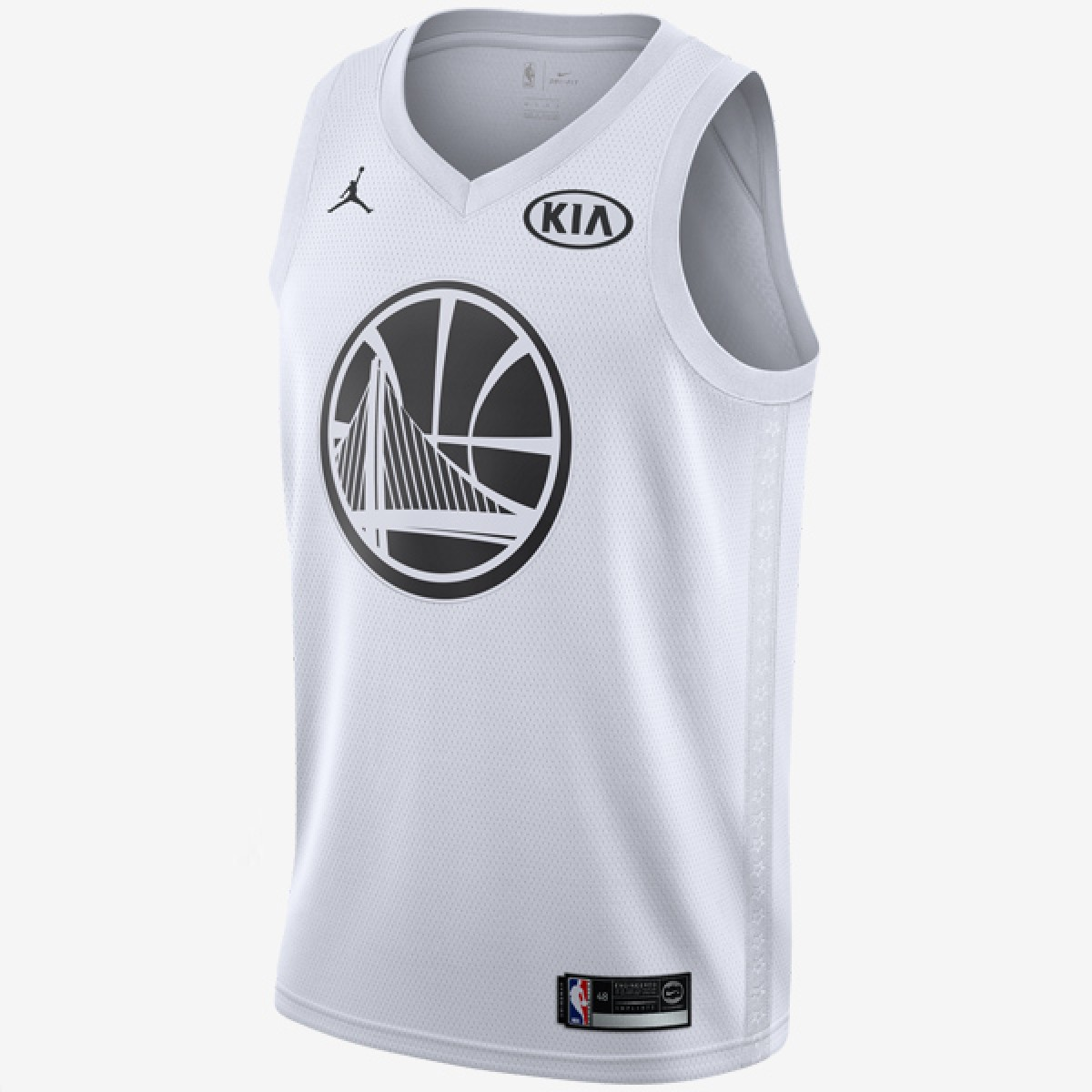 Jordan Swigman Jersey All-Star edition Curry 'White'