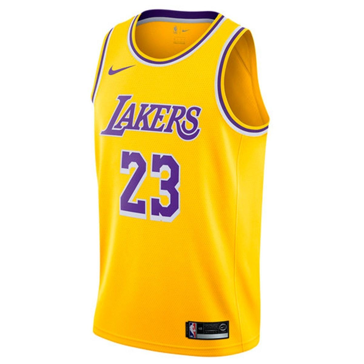 Nike NBA Lakers Swingman Jersey James 'Icon Edition'