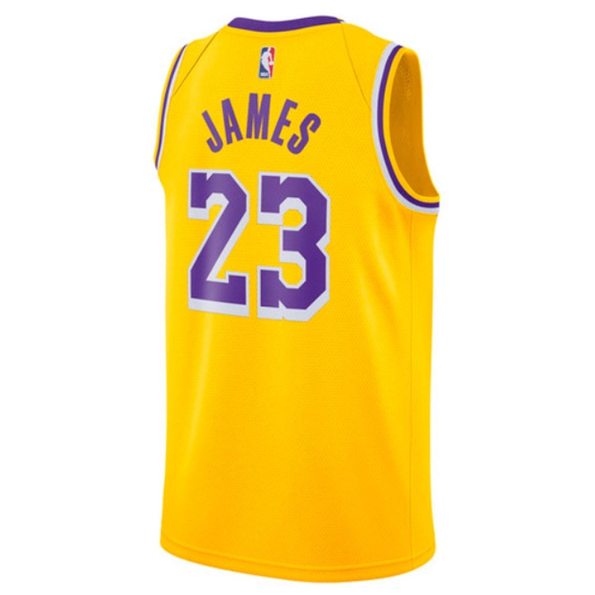 Nike NBA Lakers Swingman Jersey James 'Icon Edition' AA7099-741