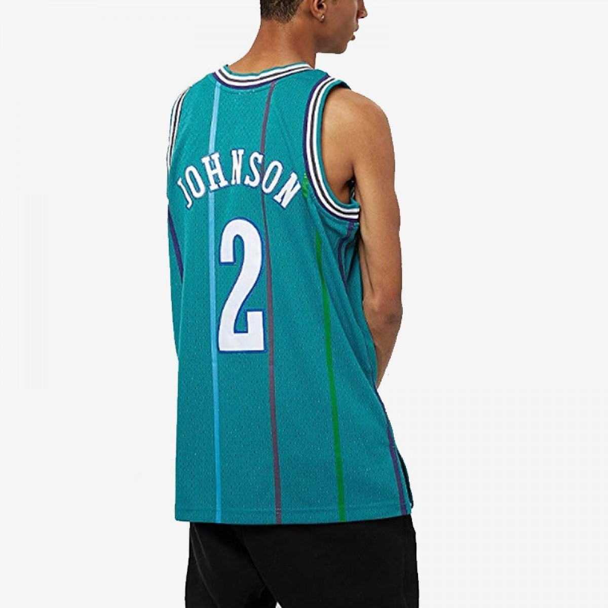 Mitchell & Ness Larry Johnson Swingman Jersey Away 'Charlotte'