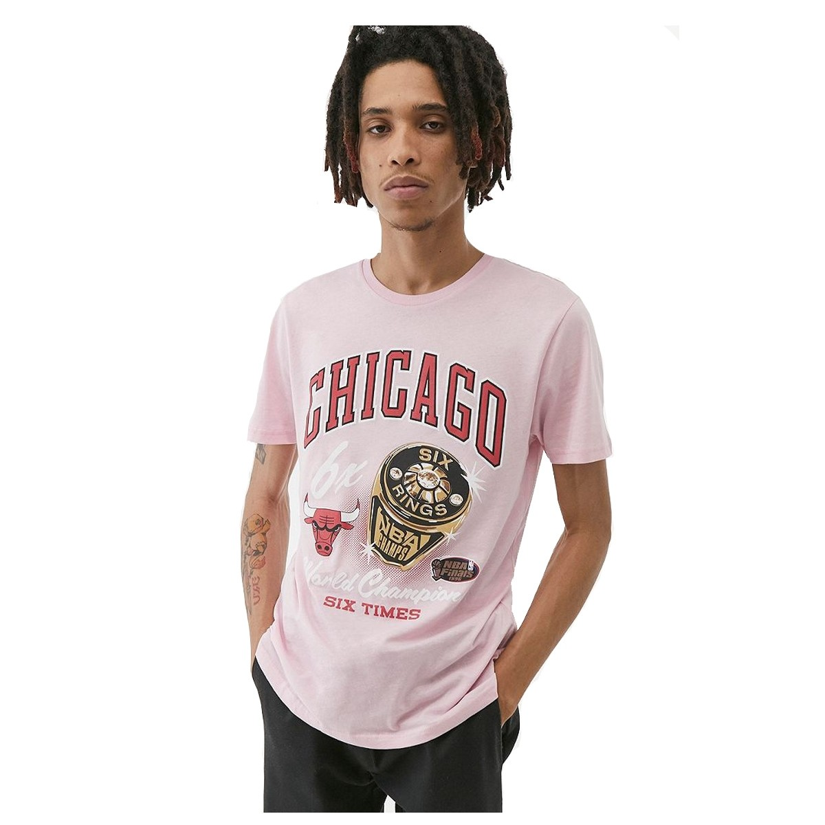 Camiseta Mitchell & Ness NBA Pastel Rings 'Chicago Bulls'