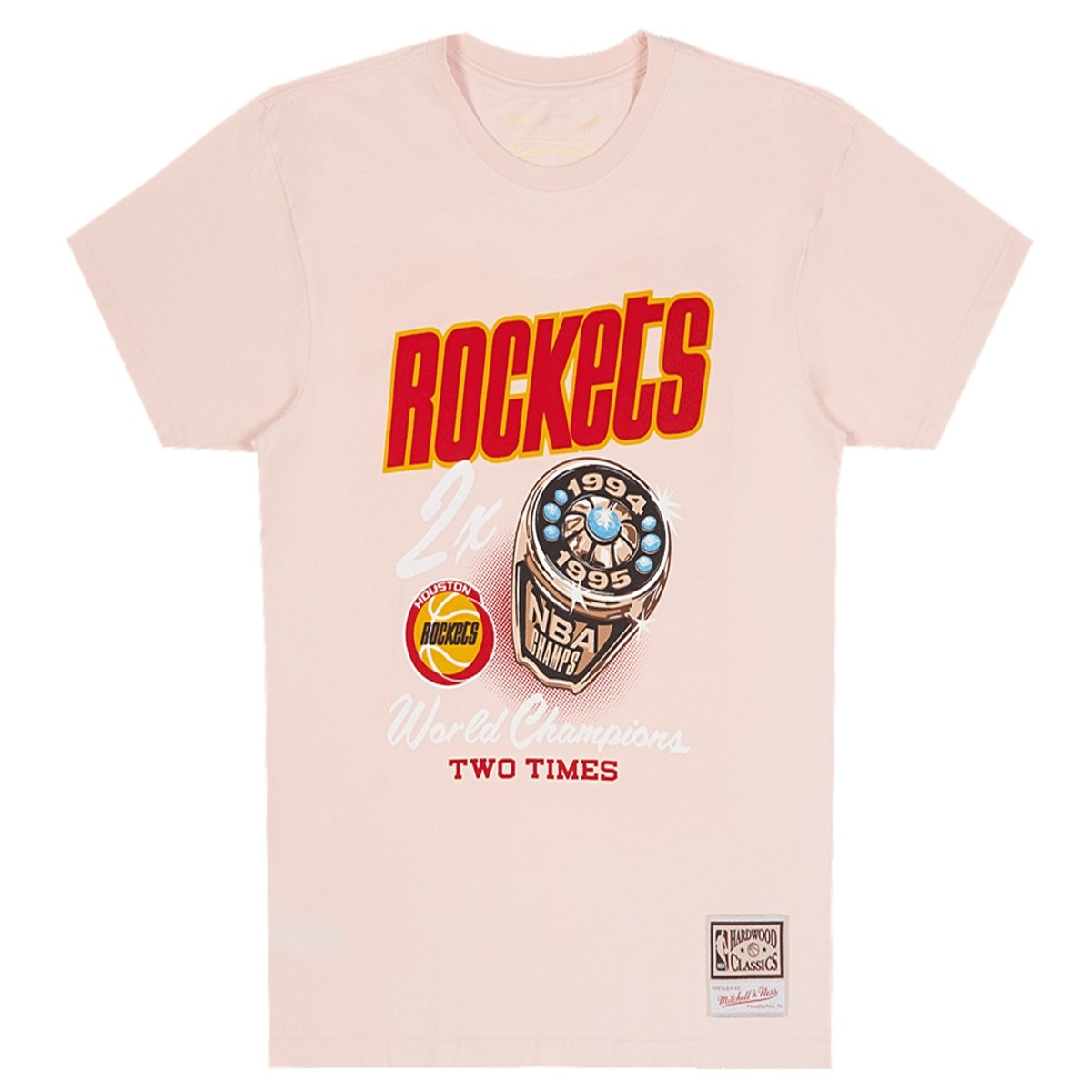 Camiseta Mitchell & Ness NBA Pastel Rings 'Houston Rockets'