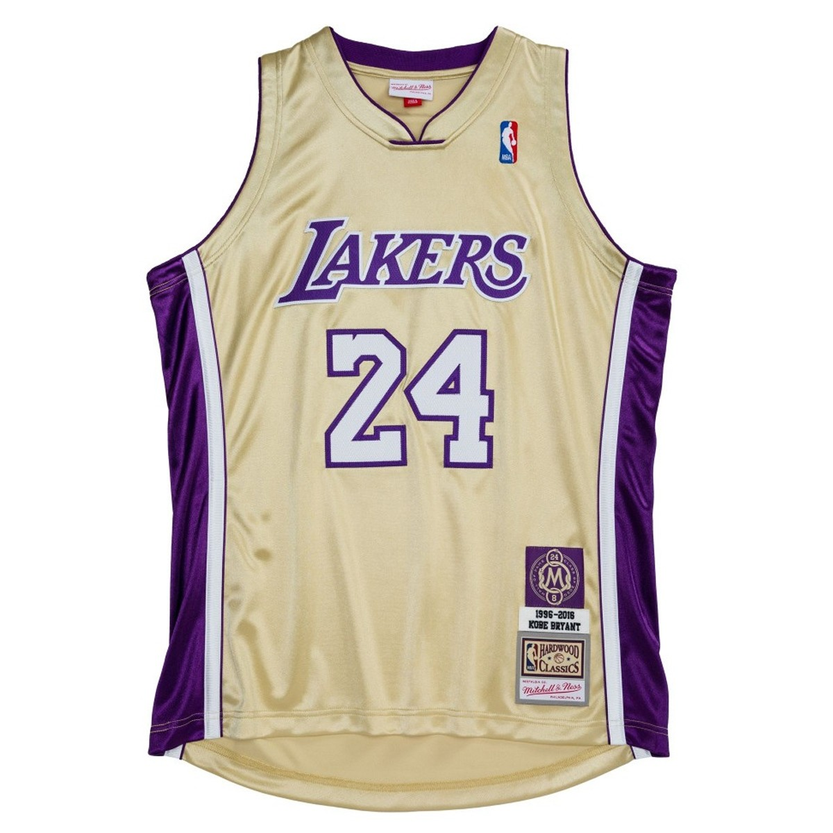 Mitchell & Ness Authentic HOF 24 Kobe Bryant Los Angeles Lakers '1996-2016 Gold'