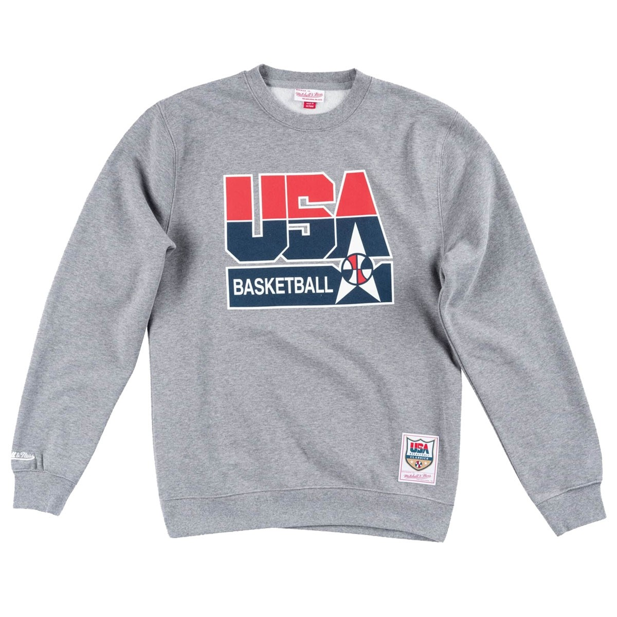 Mitchell & Ness Basketball Logo Crew Team USA 'Grey'