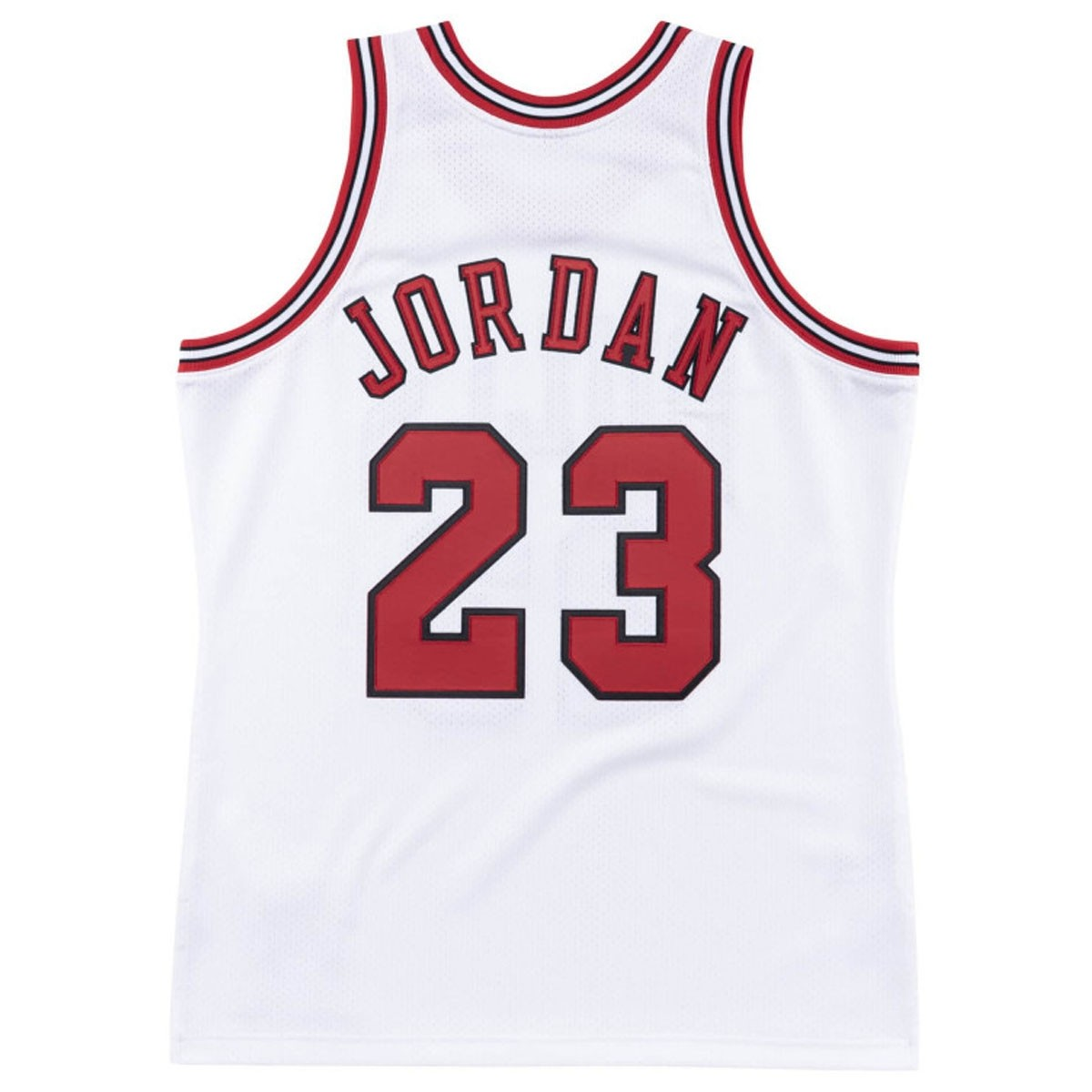 Mitchell & Ness Jordan Authentic Jersey '96-97 Finals Home' CBUWHIT9-6MJO