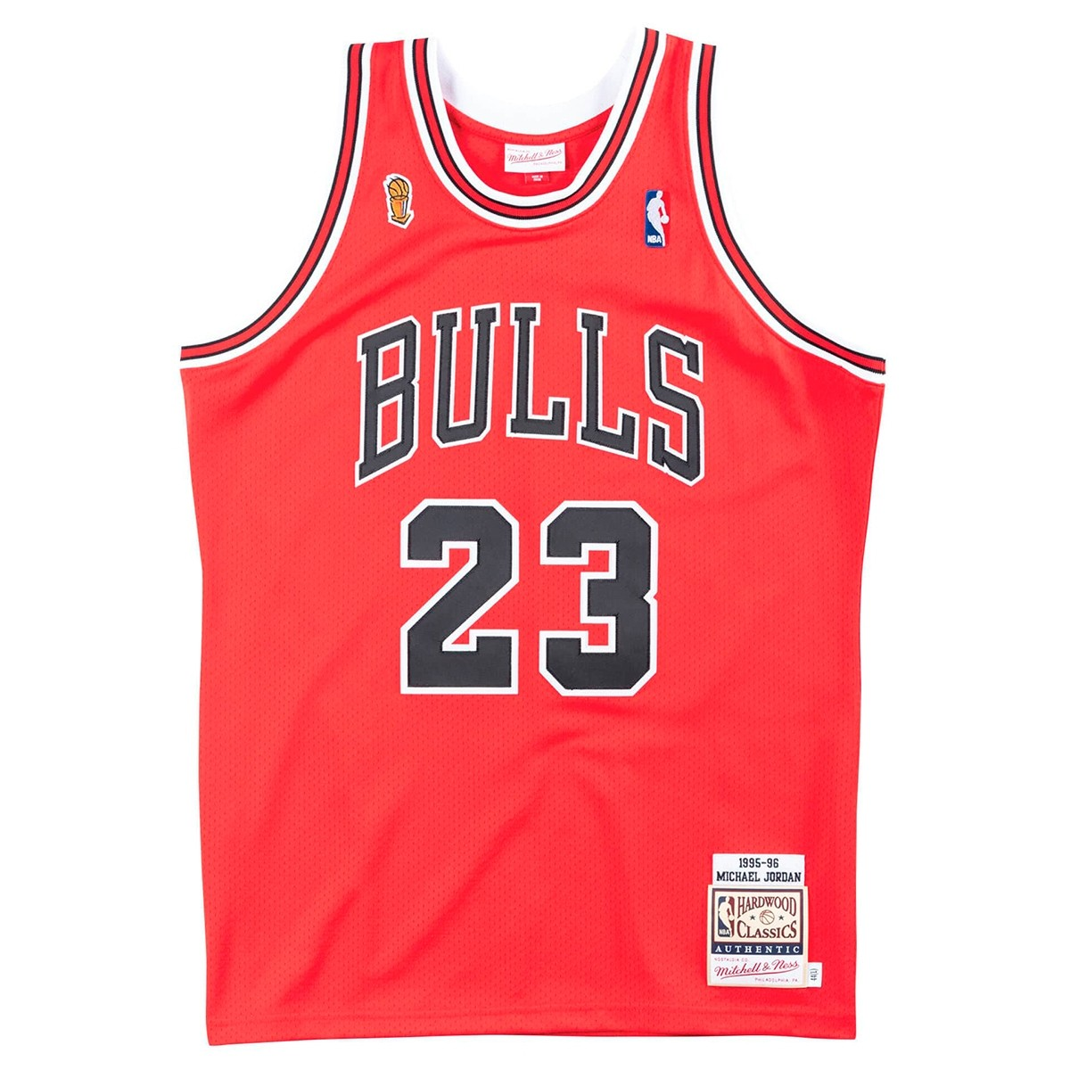 Mitchell & Ness Jordan Authentic Jersey 'Finals 95-96 Away'-CBUSCAR9-5MJO