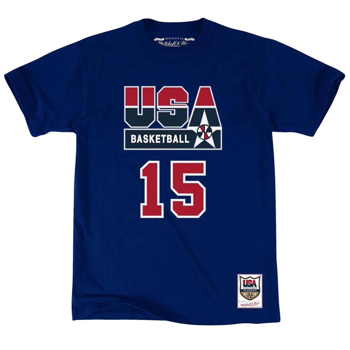 Mitchell & Ness Name & Number Tee Team USA 'Magic'