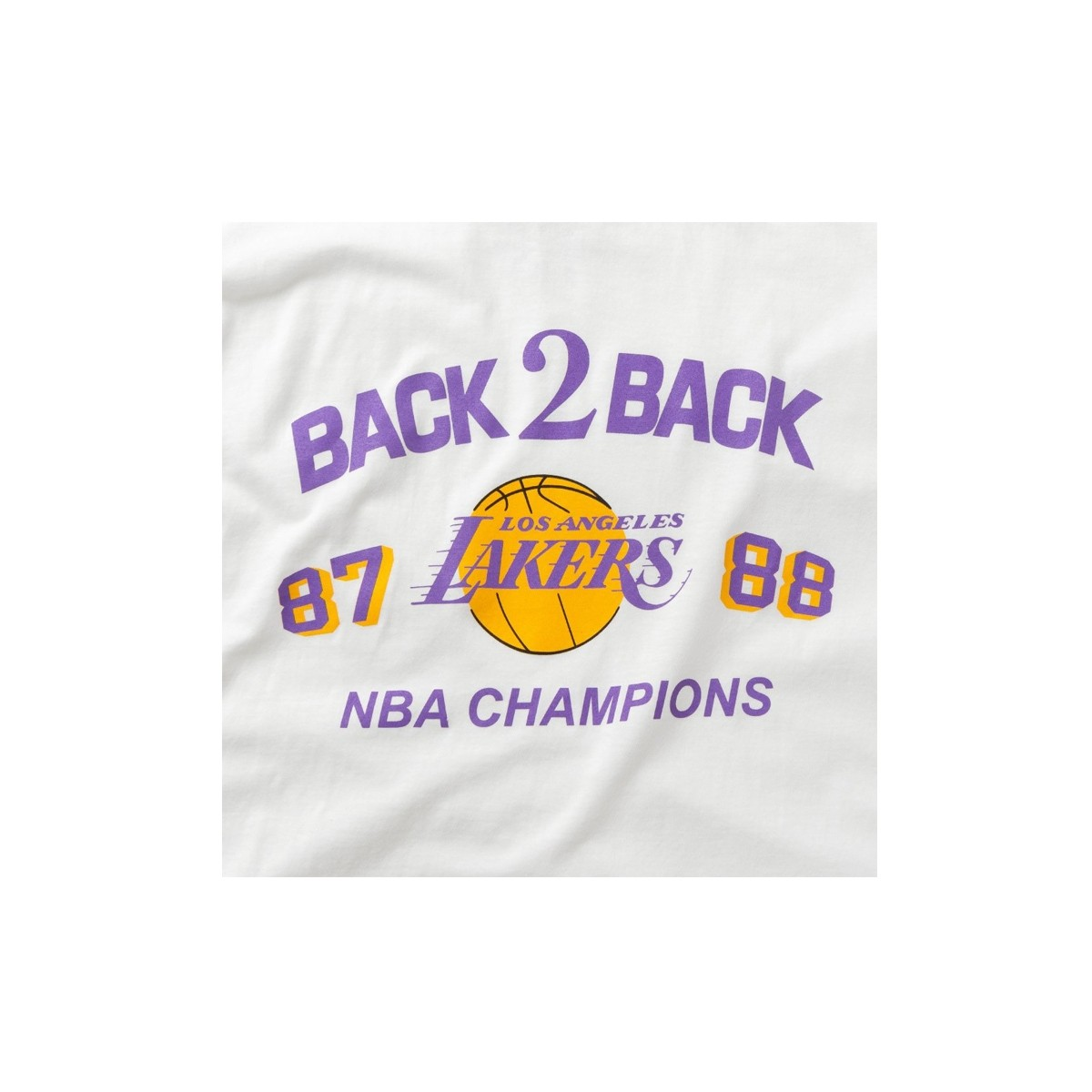 Mitchell & Ness NBA Back 2 Back Tee 'Los Angeles Lakers'-BMTRINTL936-LAL