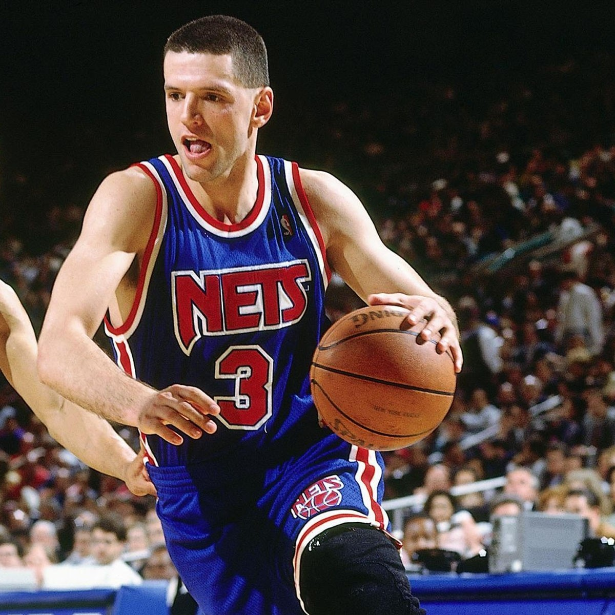 Mitchell & Ness Petrovic Swingman Jersey Away 'Nets' SMJYGS18183