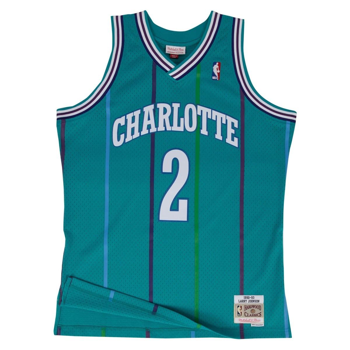 Mitchell & Ness Swingman Jersey Charlotte Hornets Larry Johnson '1992-93'