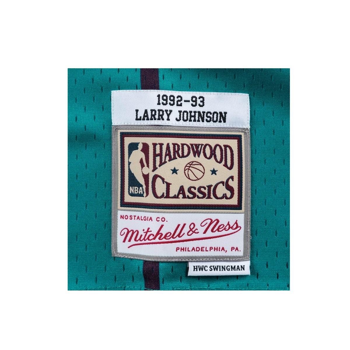 Mitchell & Ness Swingman Jersey Charlotte Hornets Larry Johnson '1992-93'-SMJYGS18147