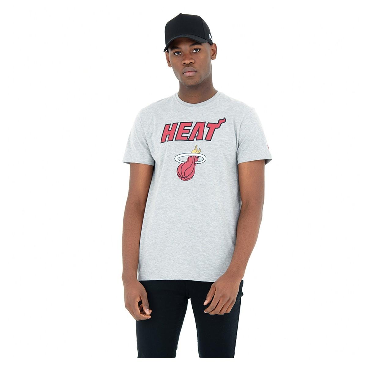 Camiseta New Era Team Logo Tee 'Miami Heat'