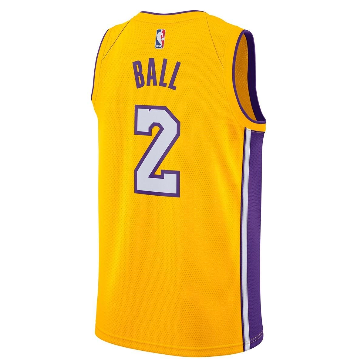 Nike Junior NBA LAL Swingman Jersey Ball 'Icon Edition' EZ2B7BZ2P-LALBI