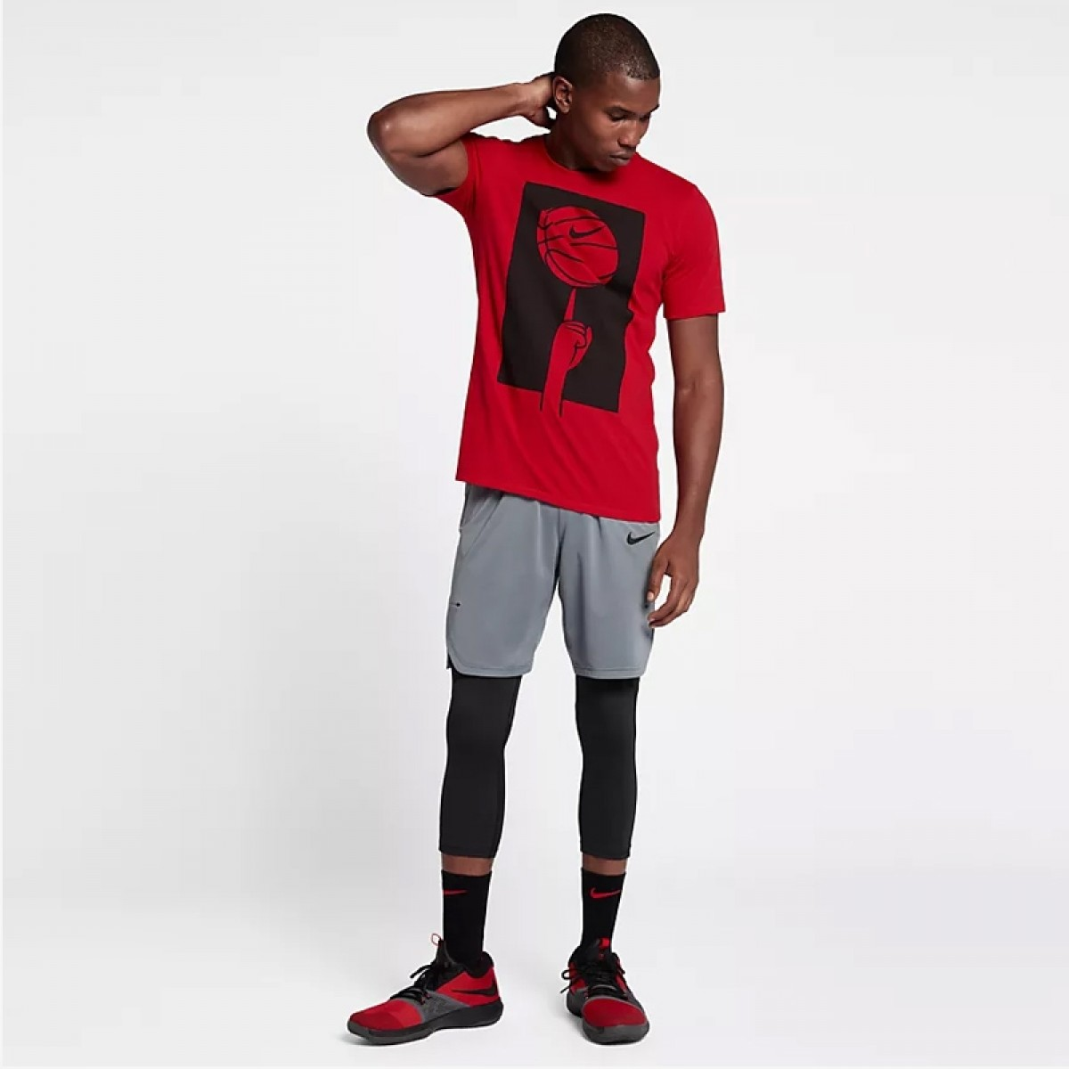 Nike Dry Basketball T-Shirt 'Red' 882194-657