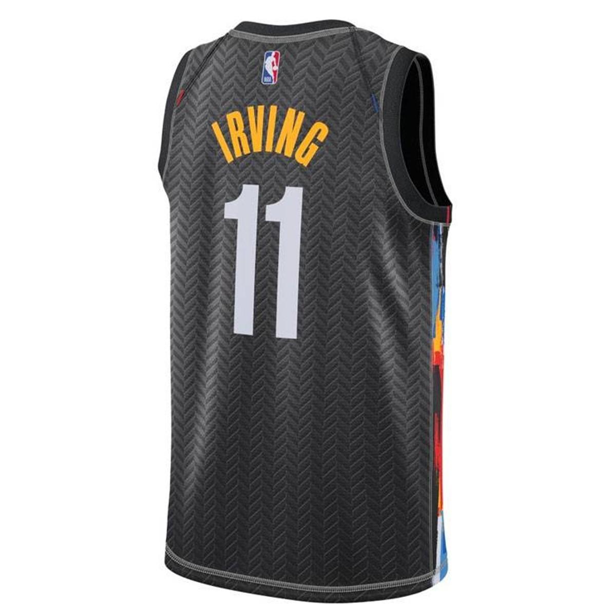 Nike Jr NBA Brooklyn Nets Swingman Jersey Kyrie Irving 'City Edition'-EZ2B7BXCP-NYNKI