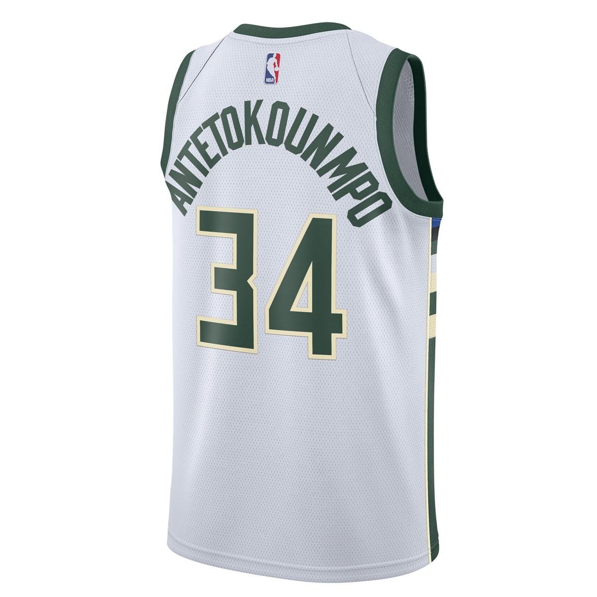 Nike Jr NBA Milwaukee Bucks Swingman Jersey Antetokounmpo 'Association Edition'-EZ2B7BZ1P-BCKGA