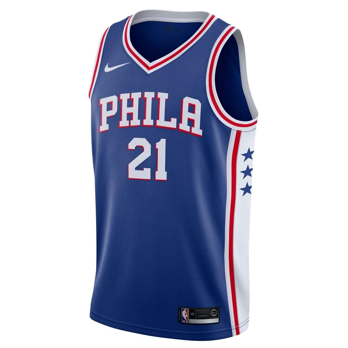 Nike Jr NBA Philadelphia 76ers Swingman Jersey Joel Embiid 'Icon Edition'
