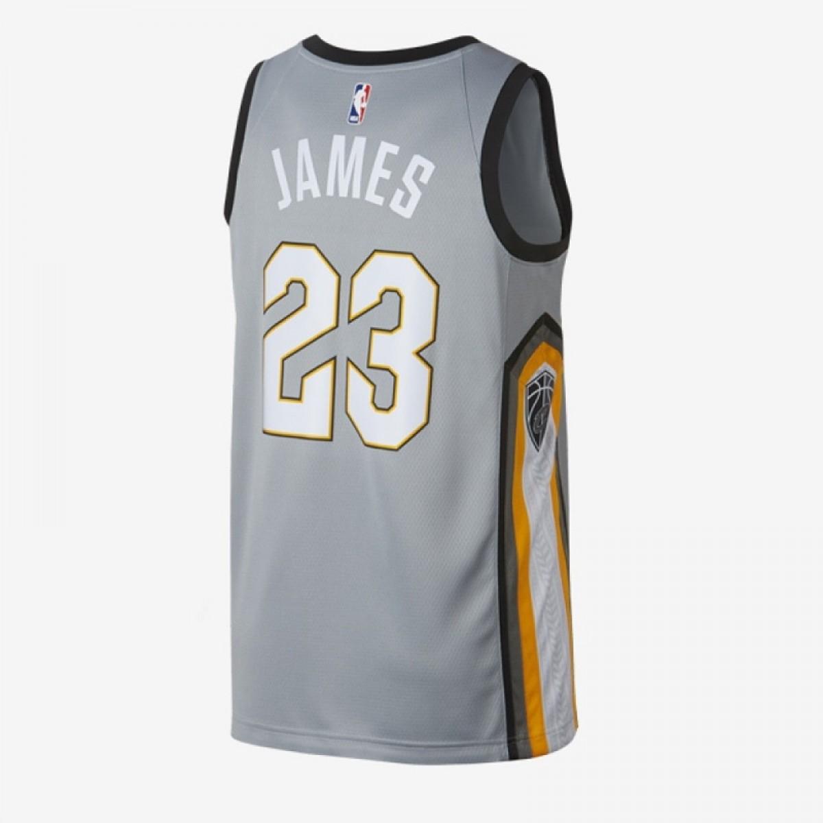 Nike Junior NBA Cavs Swingman Jersey Lebron James 'City Edition' EZ2B7BZ2P-CCLJC