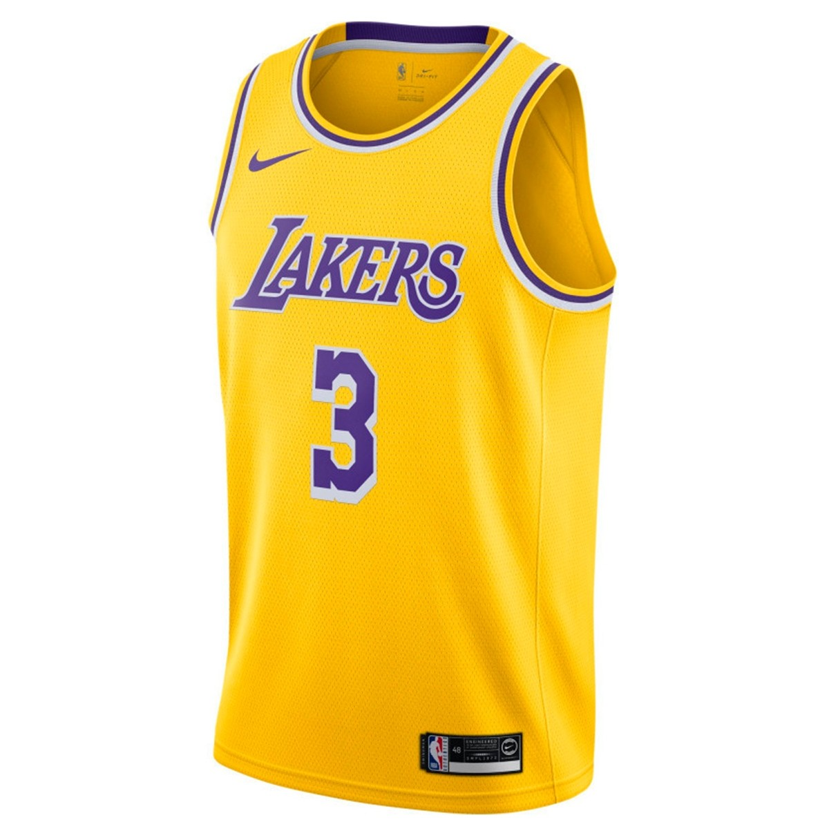Nike Junior NBA Lakers Swingman Jersey Davis 'Icon Edition'