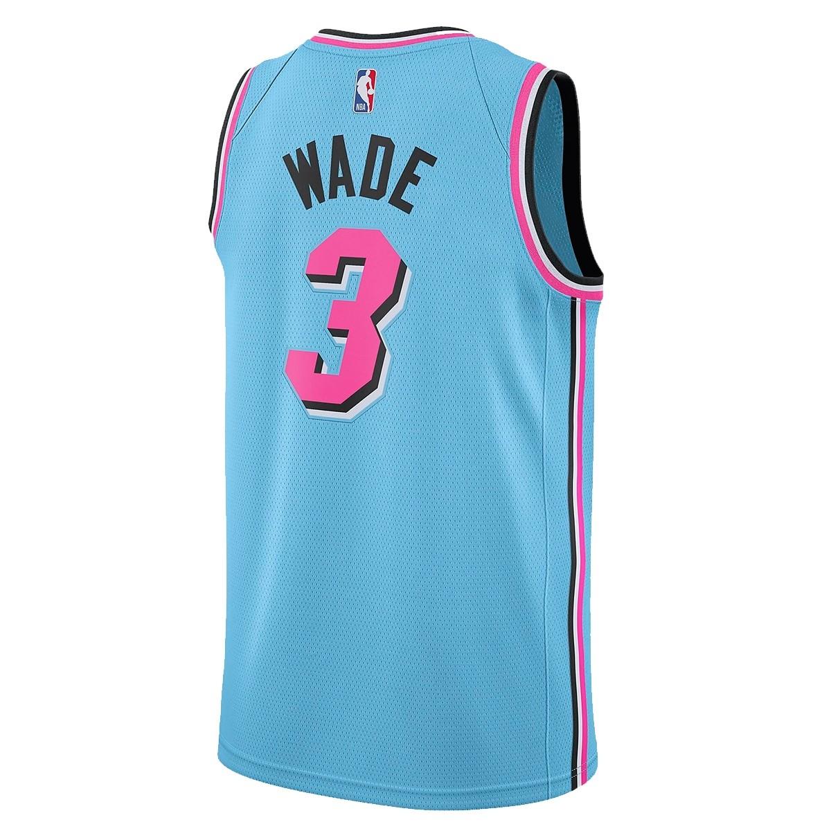 Nike Junior NBA Miami Swingman Jersey Wade 'City Edition'-EZ2B7B1GP-MWCE