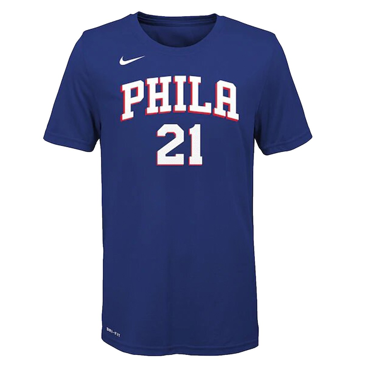 Nike Junior NBA Sixers Nick Name Tee Embiid 'Icon Edition'