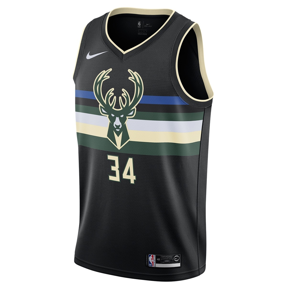 Nike NBA Bucks Swingman Jersey Antetokounmpo 'Statement Edition'-AT9806-011