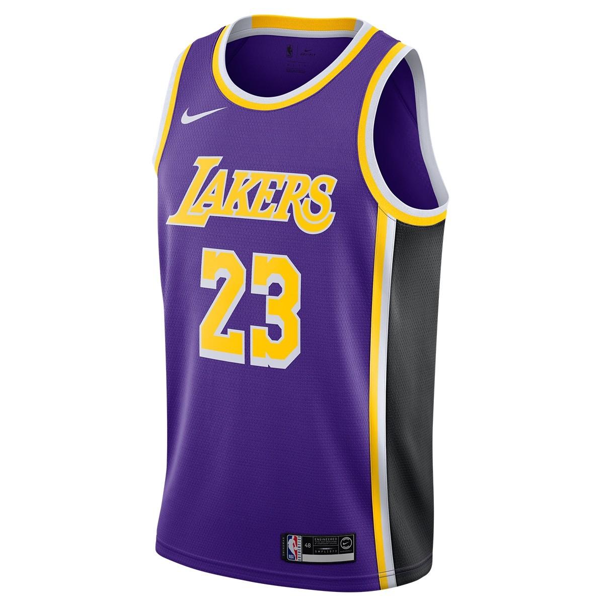 Nike NBA Lakers Swingman Jersey James ' Statement Edition'