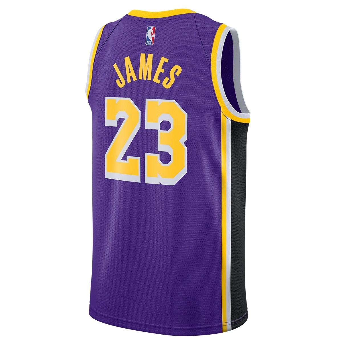 Nike NBA Lakers Swingman Jersey James ' Statement Edition'-AA7097-514