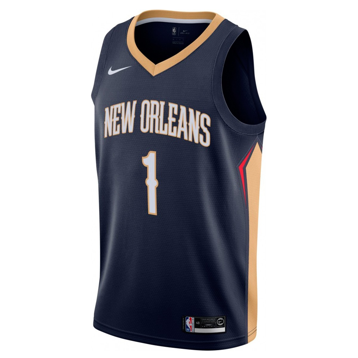 Nike NBA Pelicans Swingman Jersey Williamson 'Icon Edition'