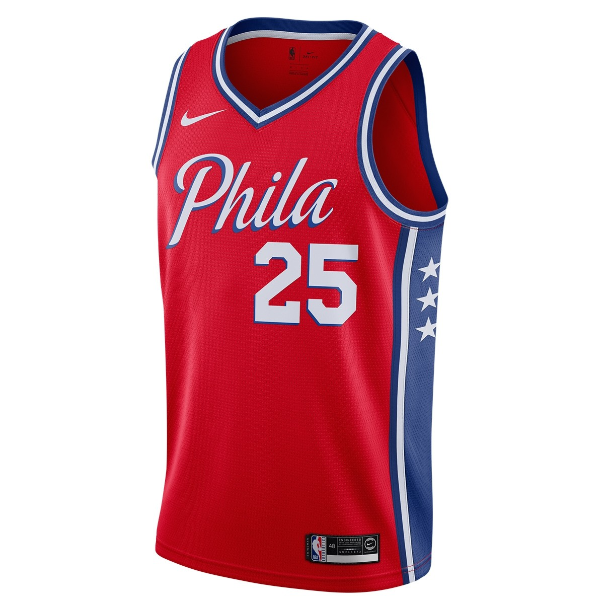 Nike NBA Sixers Swingman Jersey Simmons 'Statement Edition'-AT9812-658
