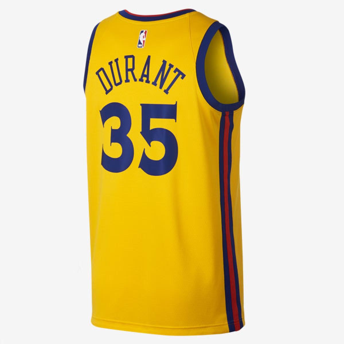Nike NBA Swingman Jersey GSW Kevin Durant 'City Edition' 912101-729
