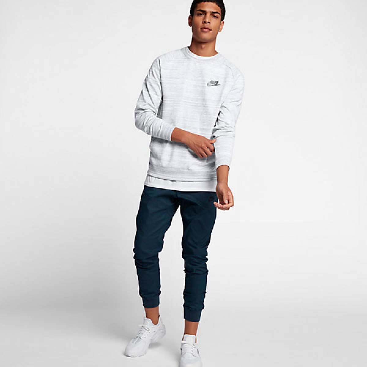 Nike Sportswear Advance 15 Crew 'Grey' 861758-100
